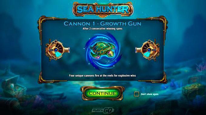 интерфейс слота Sea Hunter