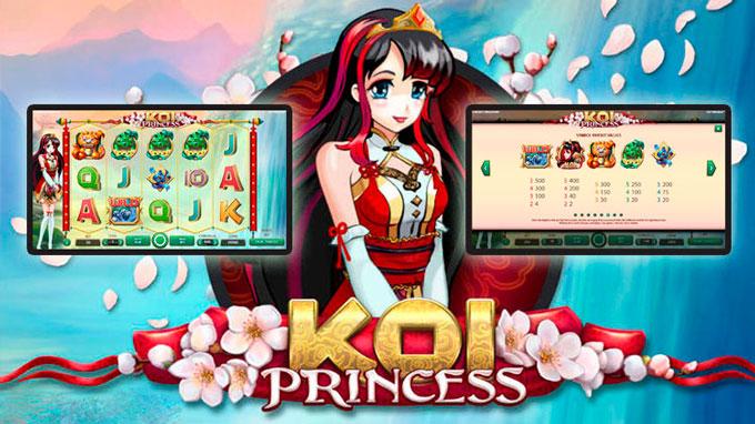 интерфейс слота Koi Princess